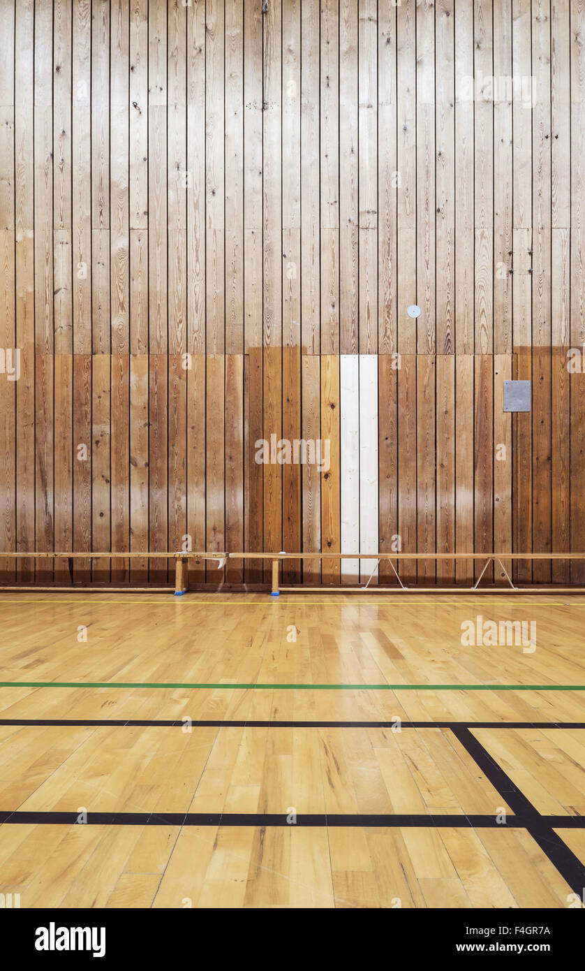 Inside an old gymhall - Stock Image