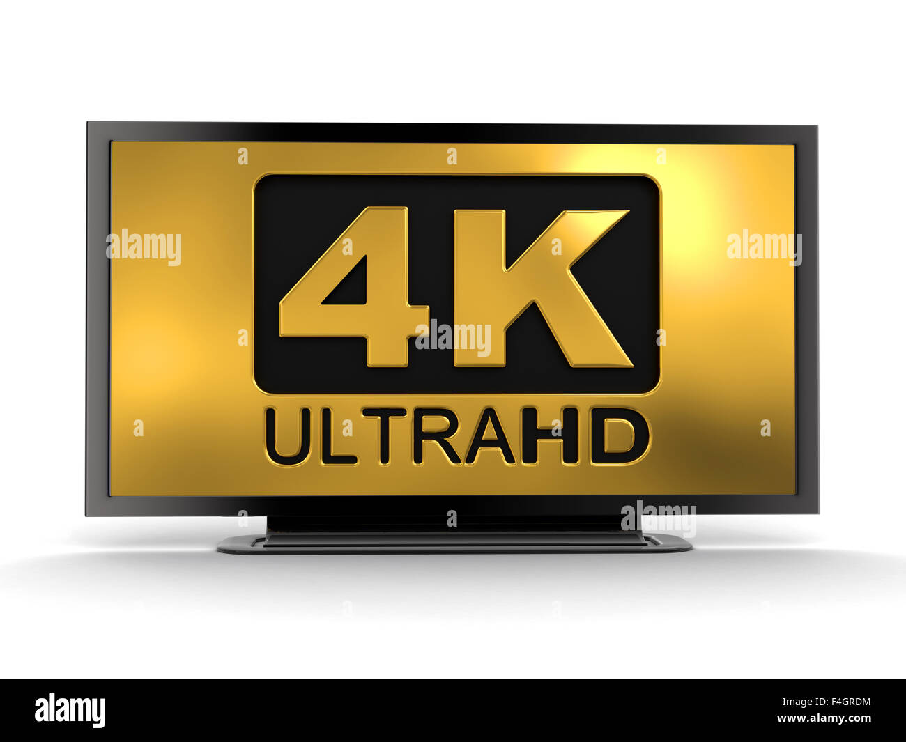 Ultra HD 4K icon. Image with clipping path. - Stock Image