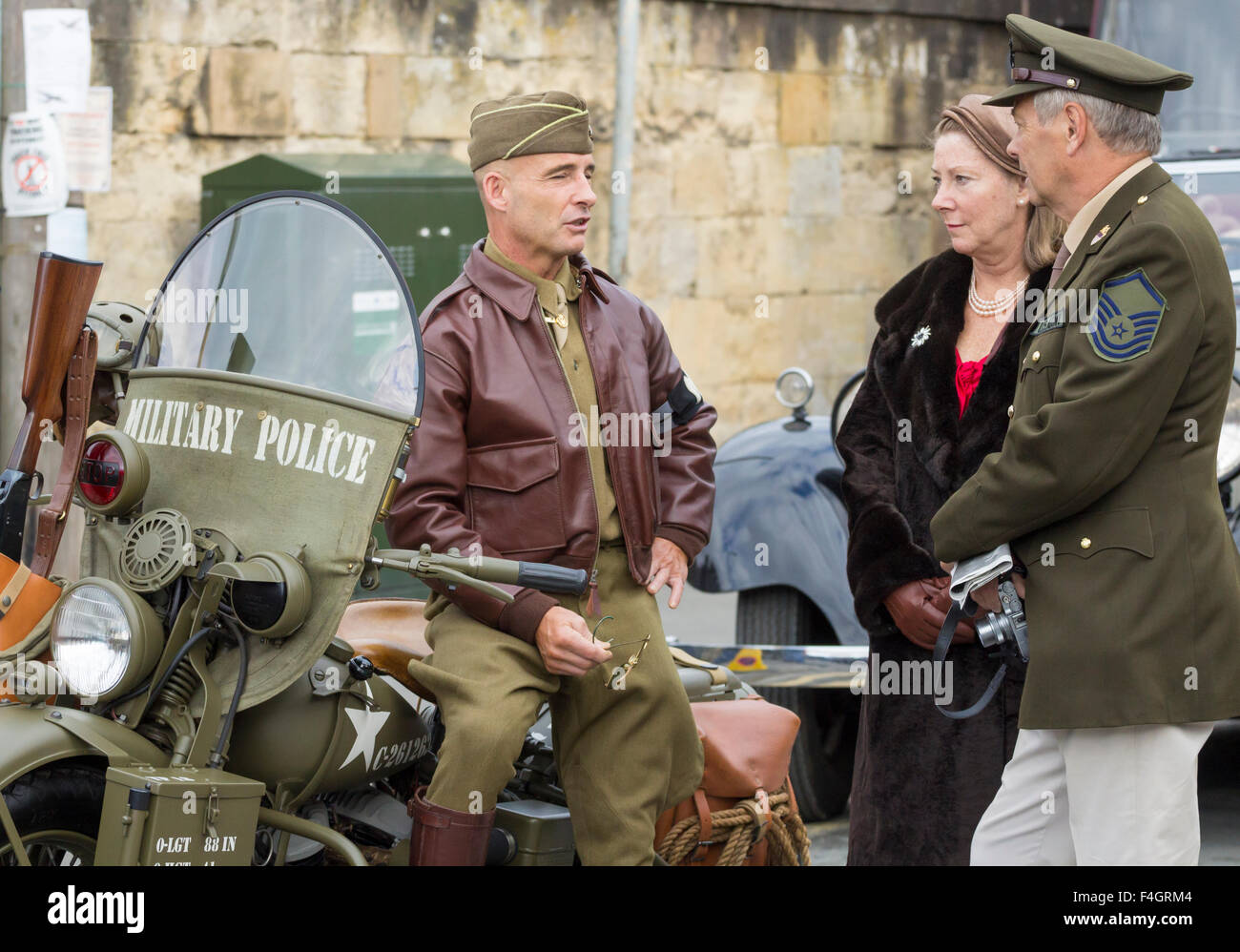 Pickering, North Yorkshire, UK. 17th October, 2015. Pickering`s annual Wartime and 40`s Weekend attracts thousands, - Stock Image