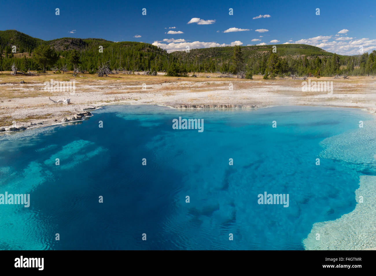 Sapphire Pool at Biscuit Basin, Yellowstone National Park, Wyoming, USA - Stock Image