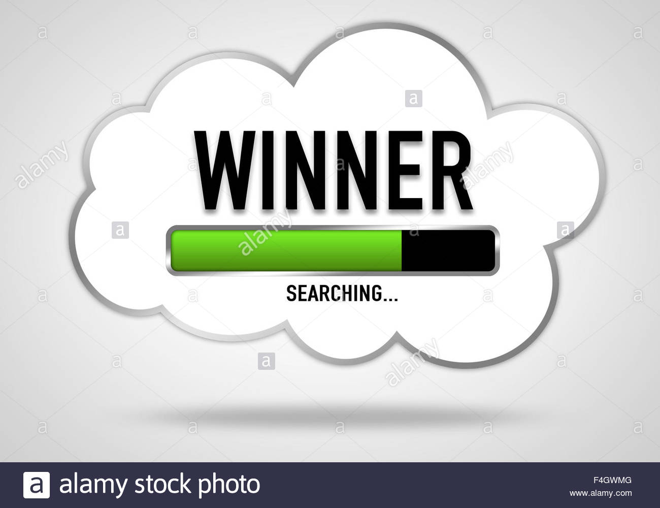 THE WINNER - Stock Image