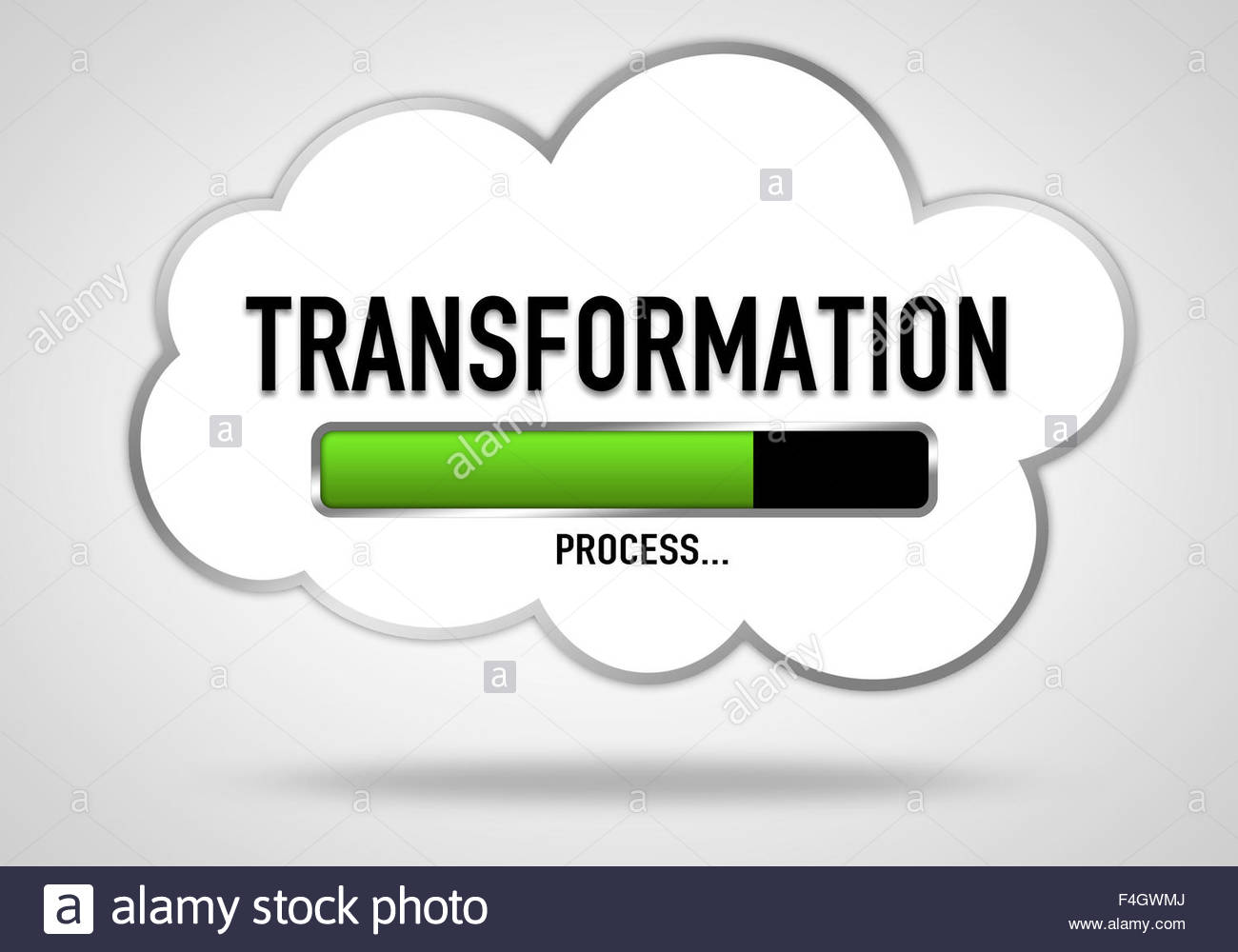 Transformation - cloud concept - Stock Image