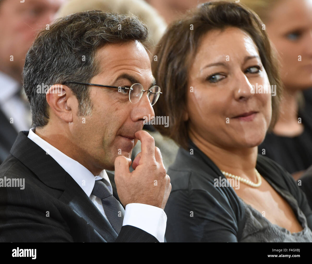 German Iranian Author Navid Kermani And His Wife Katajun Kermani At The Award Ceremony For The Peace Prize Of The German Book Trade In The Paulskirche Church In Frankfurt Am Main Germany 18