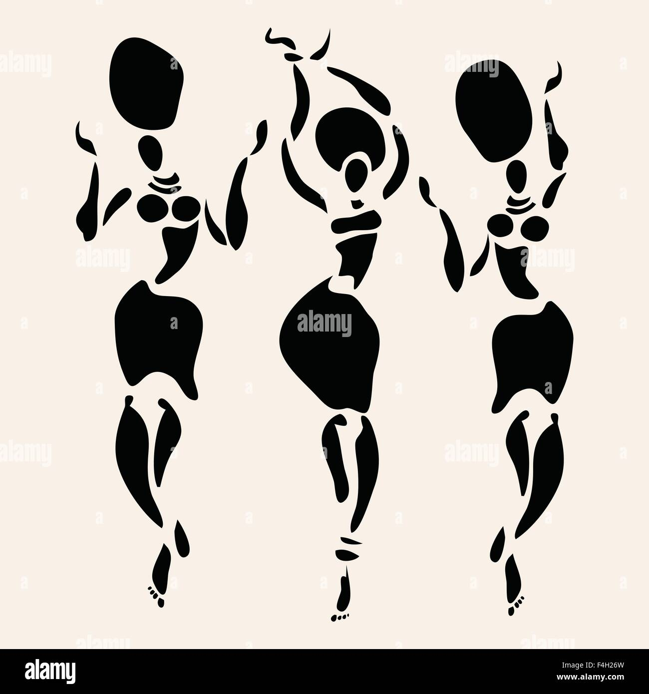 African silhouette set Stock Vector Art & Illustration ...