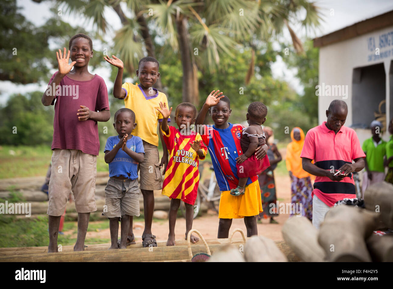 Children in Vea Village, Bolgatanga District, Ghana. - Stock Image