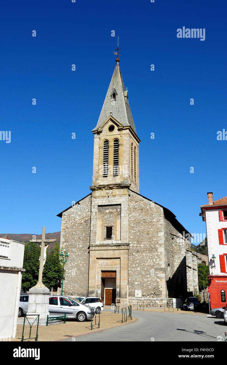 Church, Tarascon-sur-Ariege, Ariege, Midi-Pyrenees, France Stock Photo