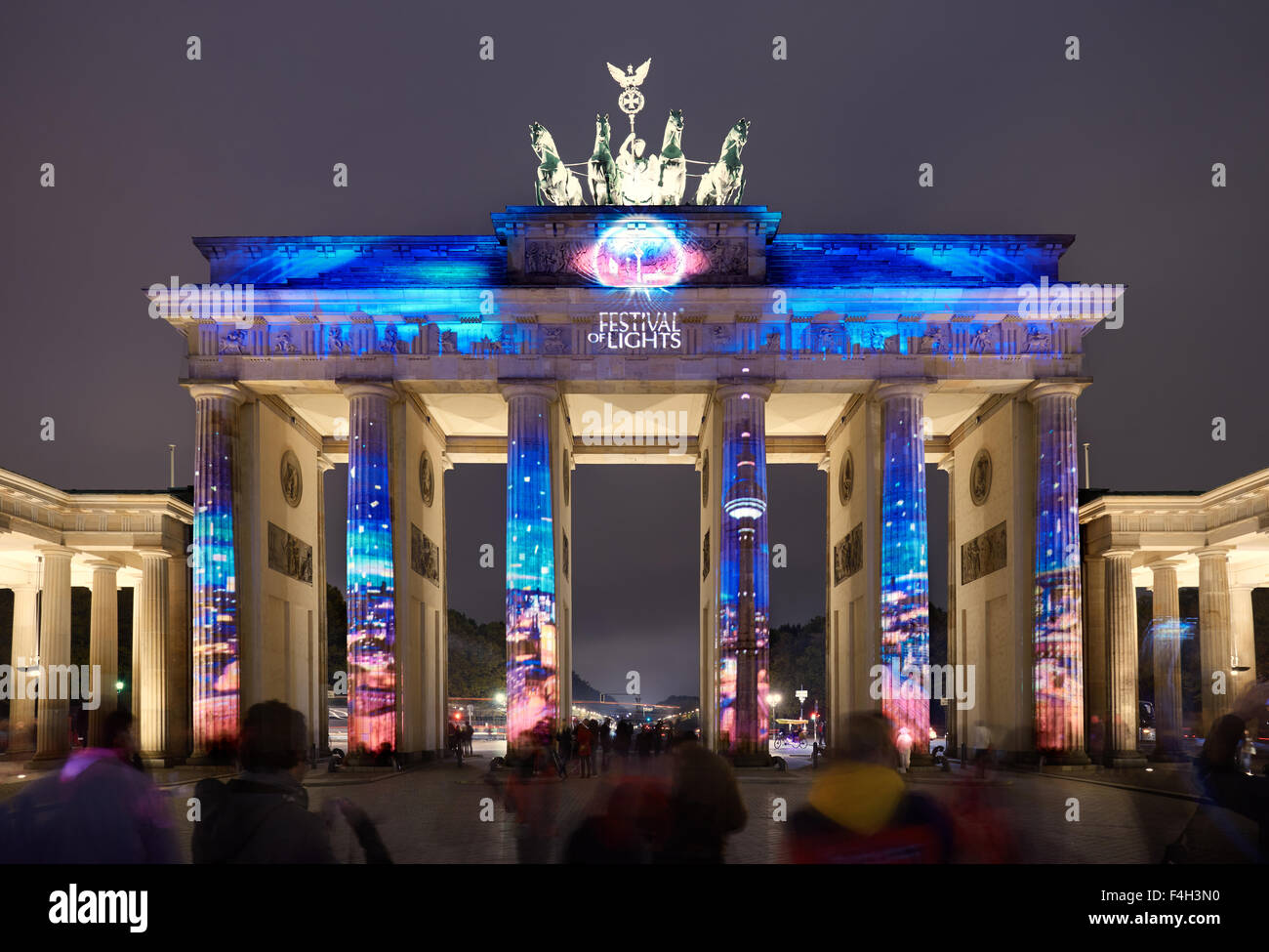 Berlin Festival Of Lights Brandenburger Tor Stock Photo Alamy