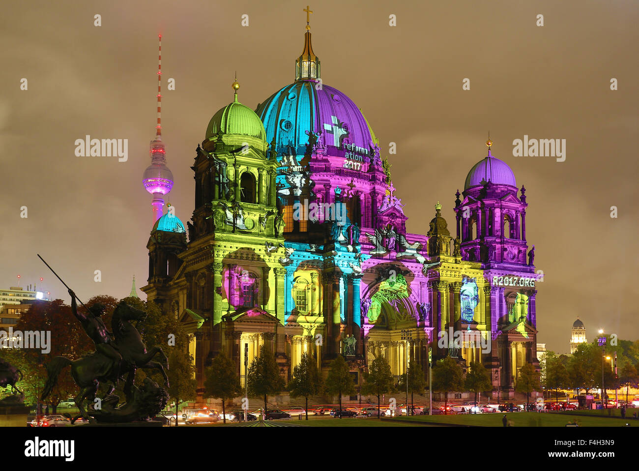 Festival of Lights, Berliner Dom - Stock Image