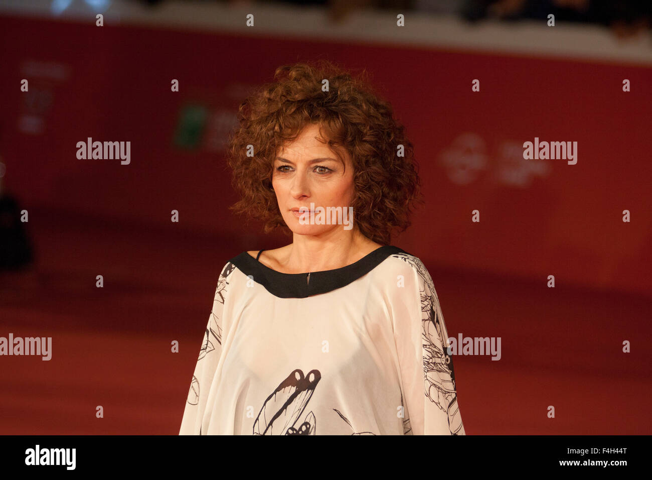 Rome, Italy. 18th Oct, 2015. Red Carpet for film 'Lo Chiamavano Jeeg Robot' at the 10th Rome Film Fest, - Stock Image