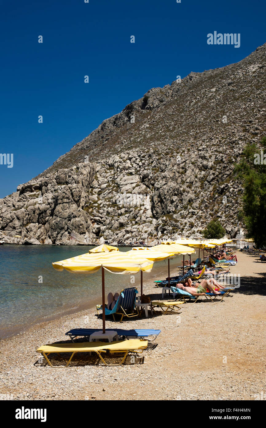 aghios nikolaos beach on the greek island of symi stock. Black Bedroom Furniture Sets. Home Design Ideas