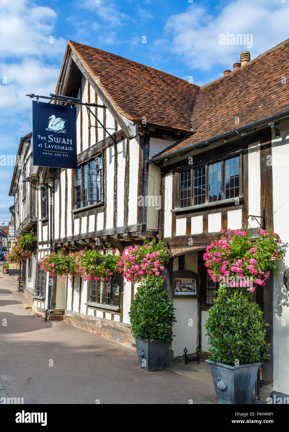 The Swan Hotel and Spa, Lavenham, Suffolk, England, UK - Stock Image