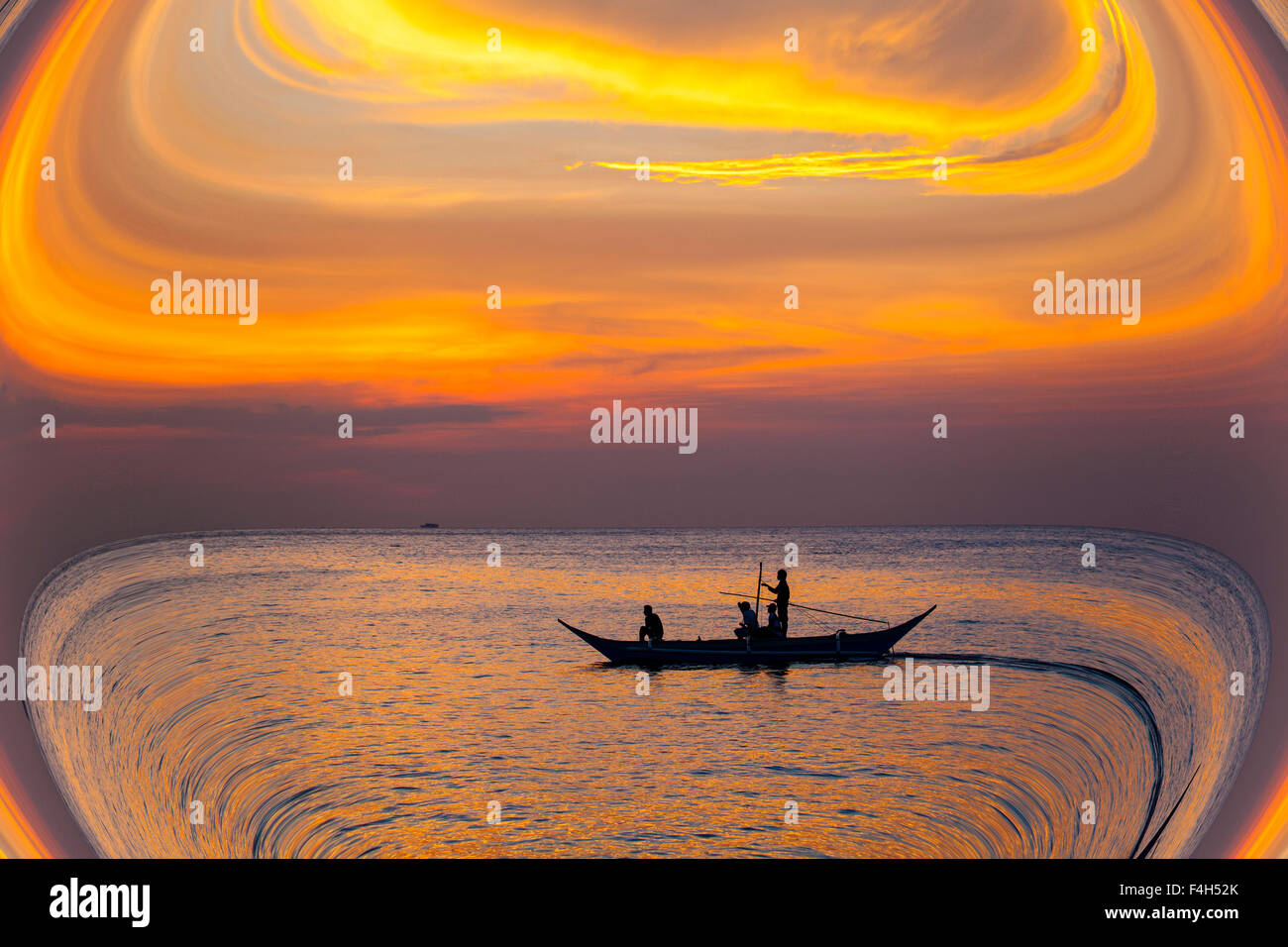 Flat Earth exploration concept. - Stock Image