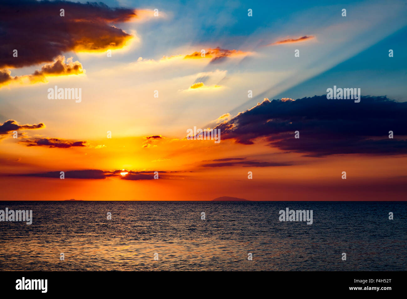 Spectacular sunset in the Philippines. - Stock Image