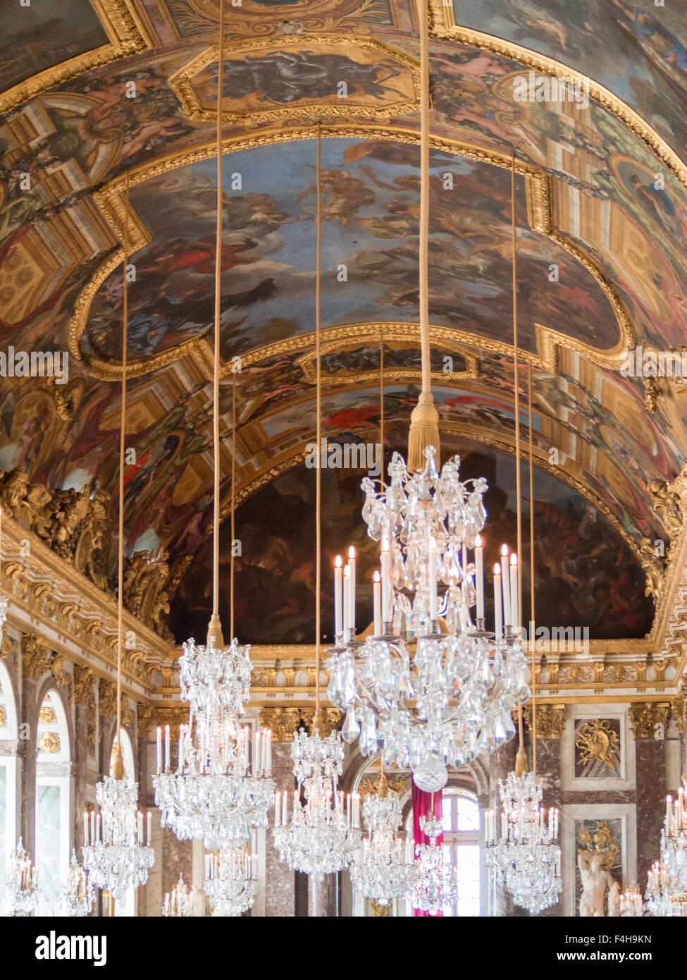 Crystal chandelier and painted ceilings of the versailles palace crystal chandelier and painted ceilings of the versailles palace mirror room aloadofball Gallery