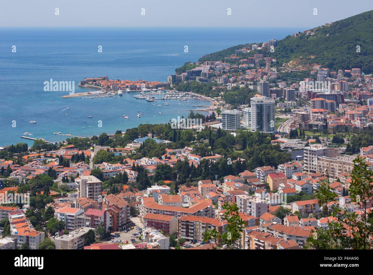Budva, Montenegro. Overall view. Stock Photo