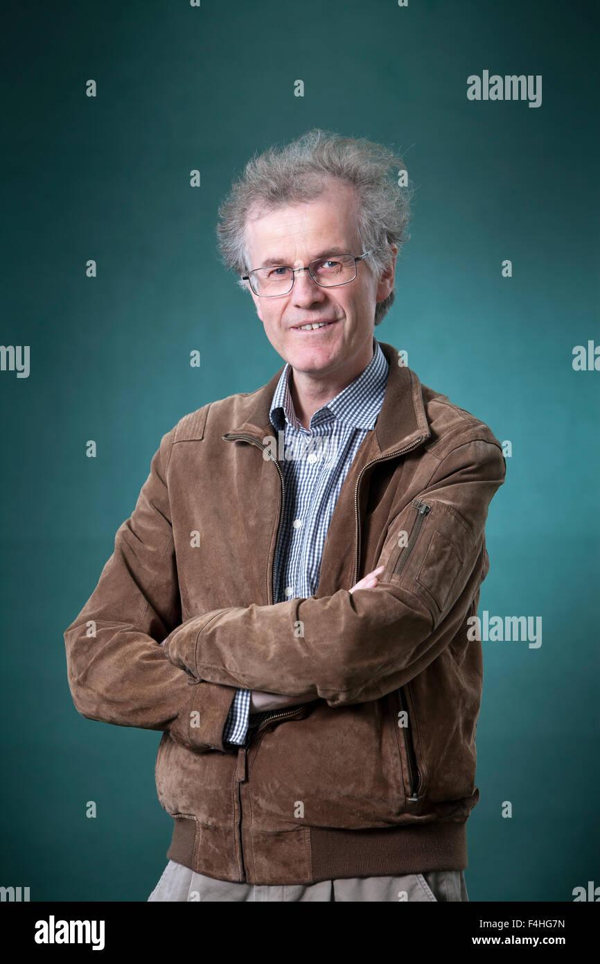 Robert Crawford FRSE FBA, the Scottish poet, scholar and critic, at the Edinburgh International Book Festival 2015. - Stock Image