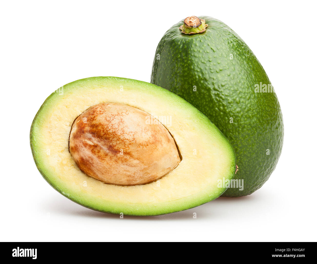 avocado isolated - Stock Image