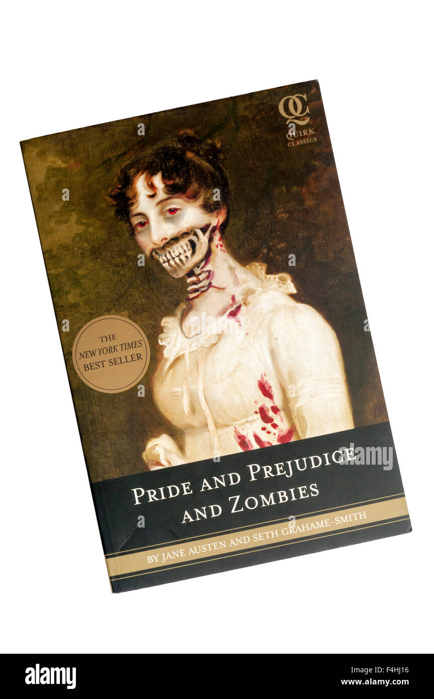 A paperback copy of Pride and Prejudice and Zombies, by Jane Austen and Seth Grahame-Smith, published by Quirk Books - Stock Image