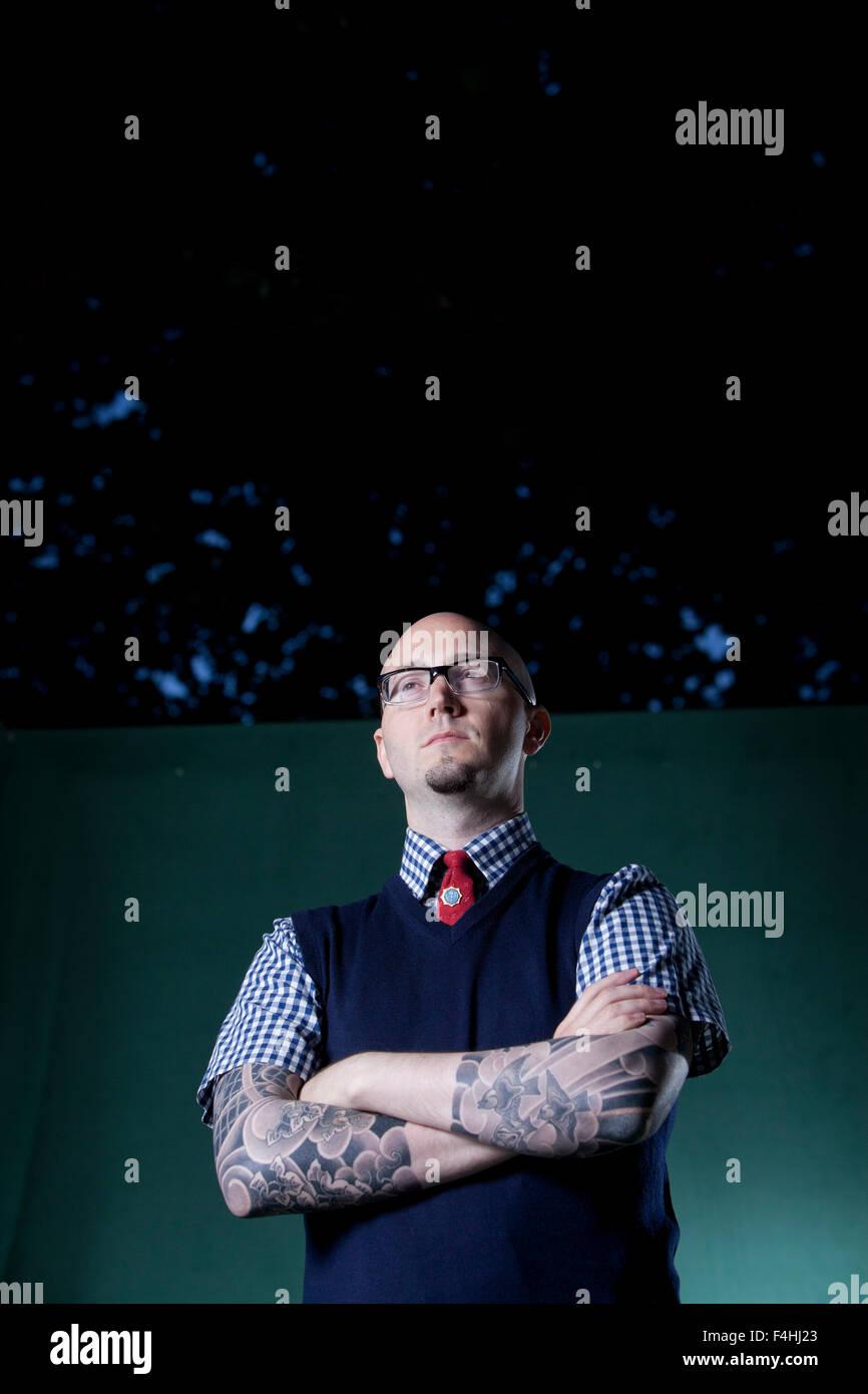 Ryan Gattis, the American novelist, at the Edinburgh International Book Festival 2015. Edinburgh, Scotland. 27th - Stock Image