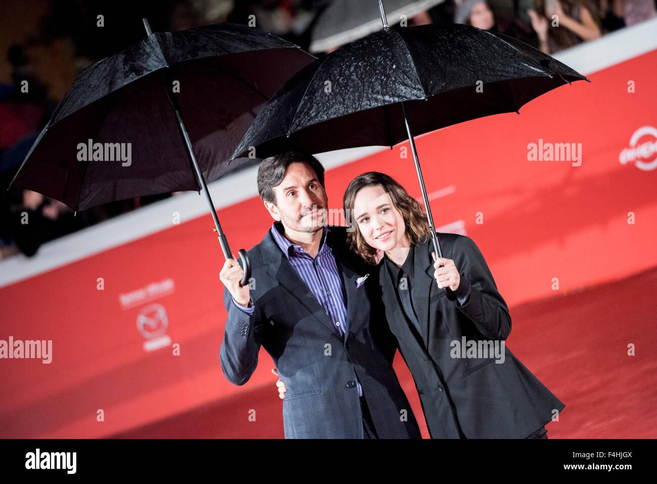 Rome, Italy. 18th Oct, 2015. Rome International Film Festival, red carpet for the film 'Freeheld', starring - Stock Image