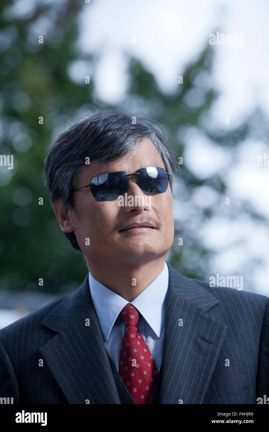 Chen Guangcheng, the Chinese civil rights activist, at the Edinburgh International Book Festival 2015. Edinburgh, - Stock Image