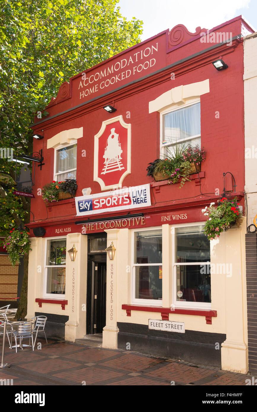 The Locomotive Pub, Fleet Street, Swindon, Wiltshire, England, United Kingdom Stock Photo