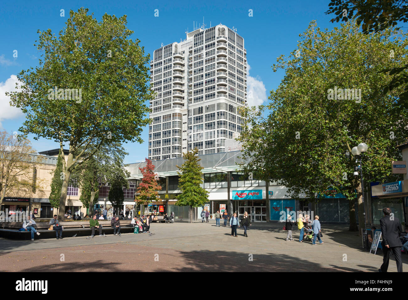 The David Murray John Tower from Canal Walk, Swindon, Wiltshire, England, United Kingdom - Stock Image