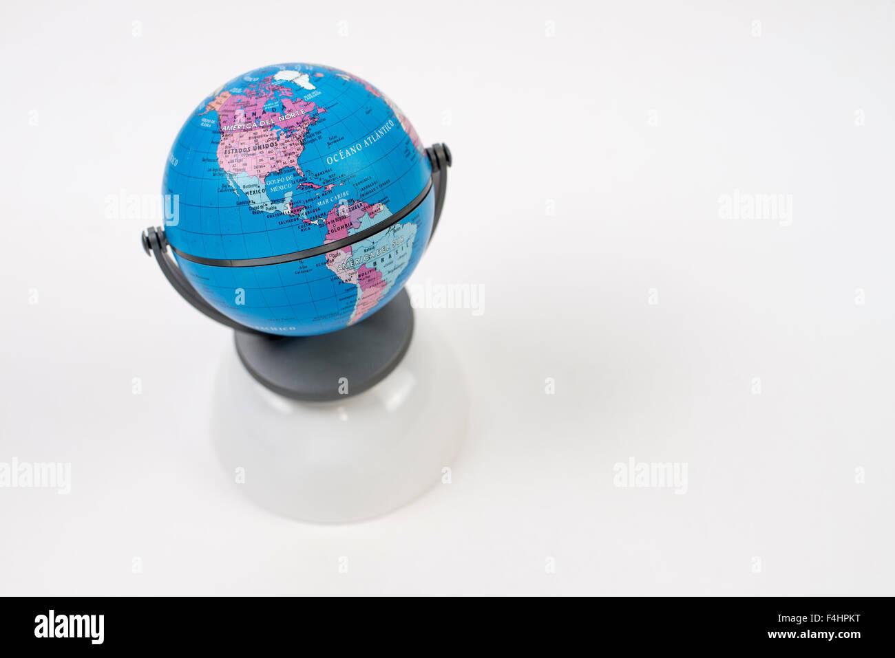 world, viajes alrededor del mundo. America, Asia, Europe Stock Photo