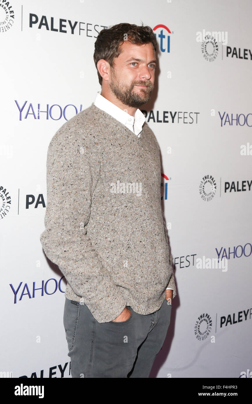 Joshua Jackson attends 'The Affair' screening at PaleyFest New York 2015 at The Paley Center for Media on - Stock Image