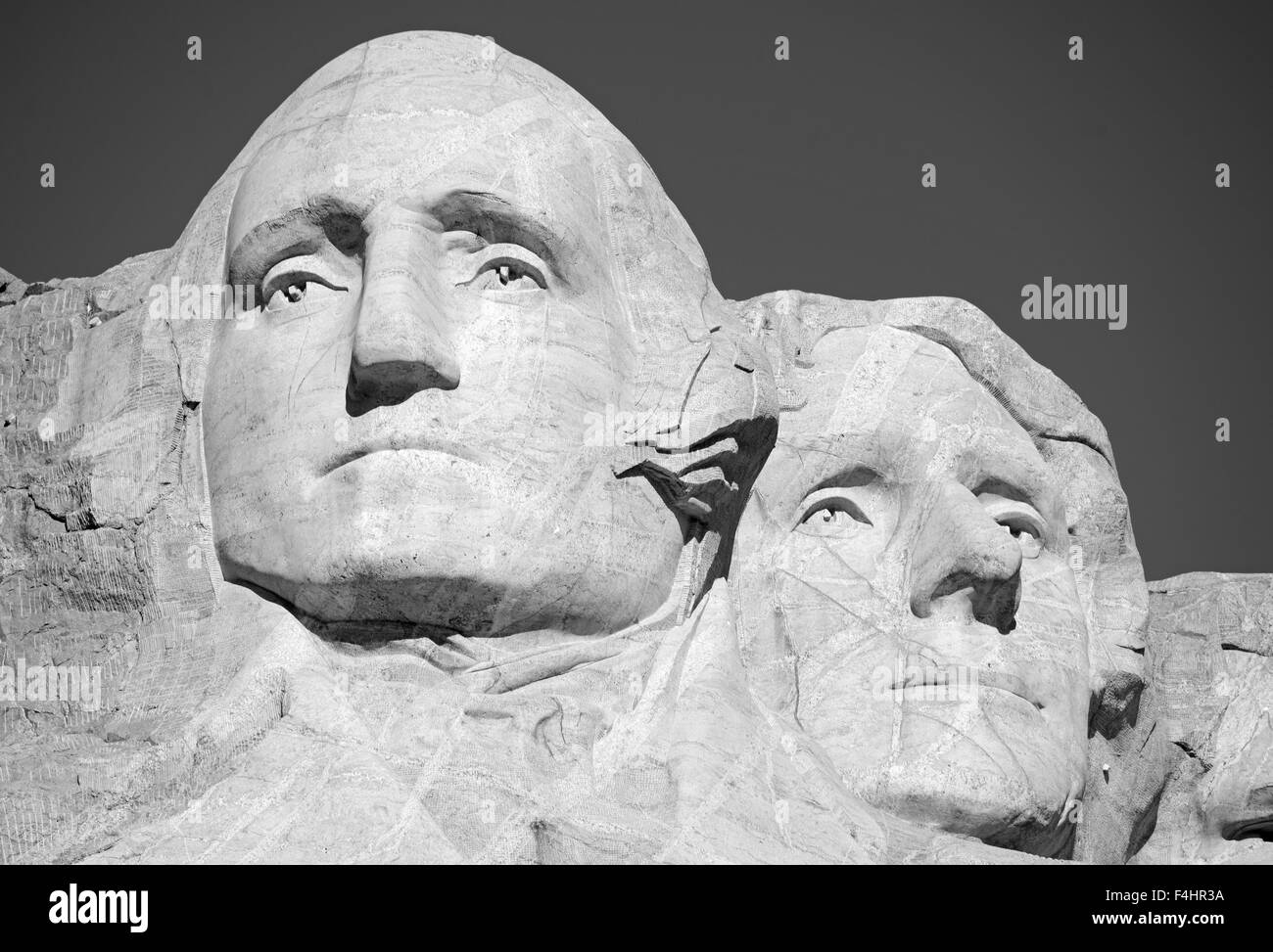 Mount Rushmore National Memorial, symbol of America located in the Black Hills, South Dakota, USA. Stock Photo