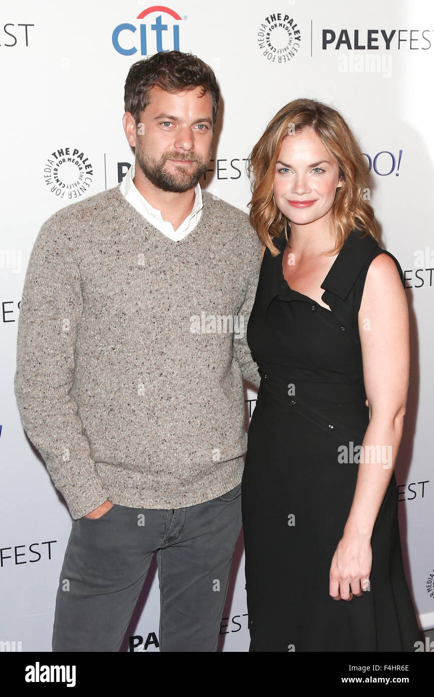 Joshua Jackson (L) and Ruth Wilson attend 'The Affair' screening at PaleyFest New York 2015 at The Paley - Stock Image
