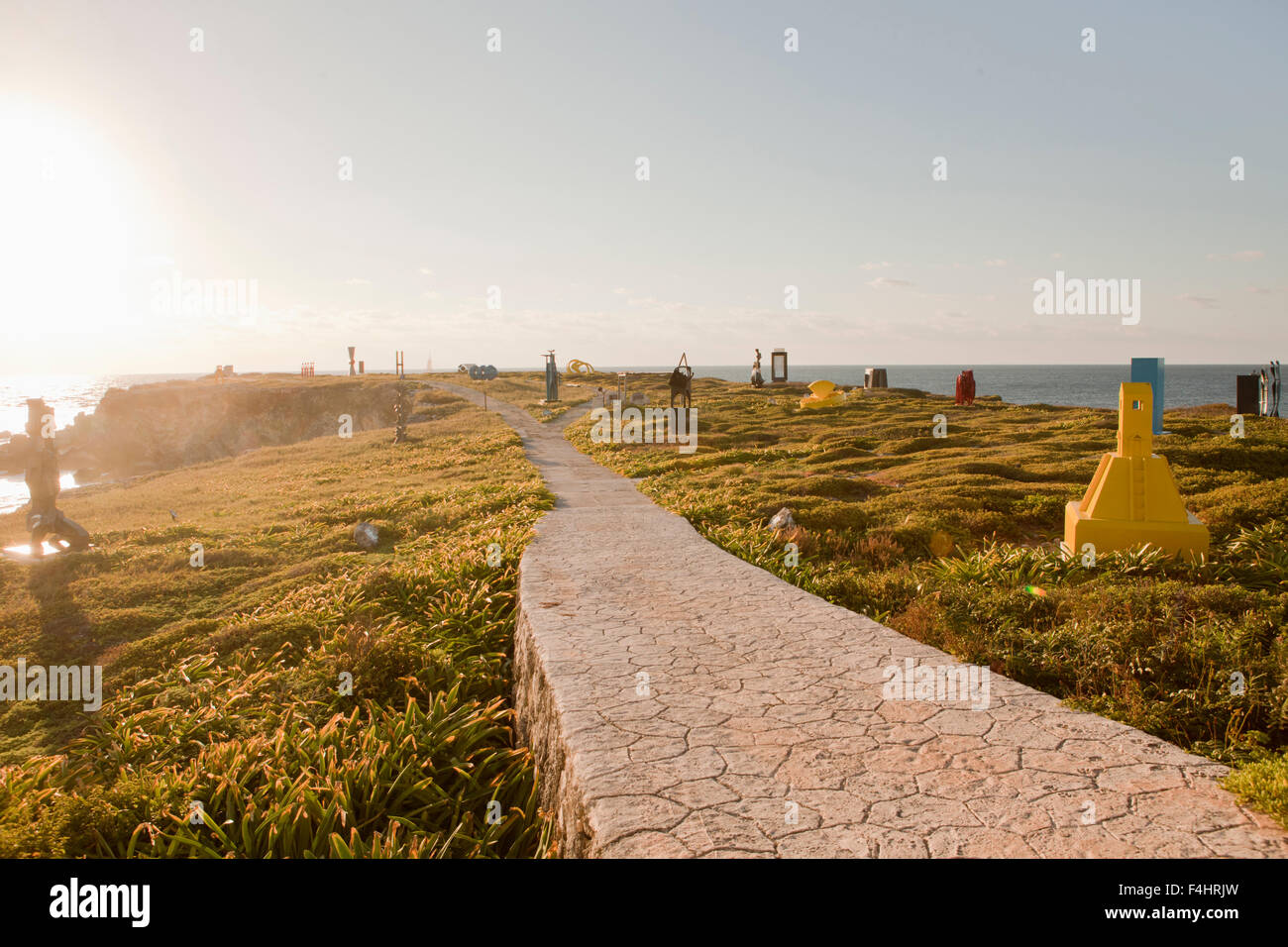 The Sculpture Park at Sunrise. Punta Sur, Isla Mujeres, Quintana Roo, Mexico. - Stock Image