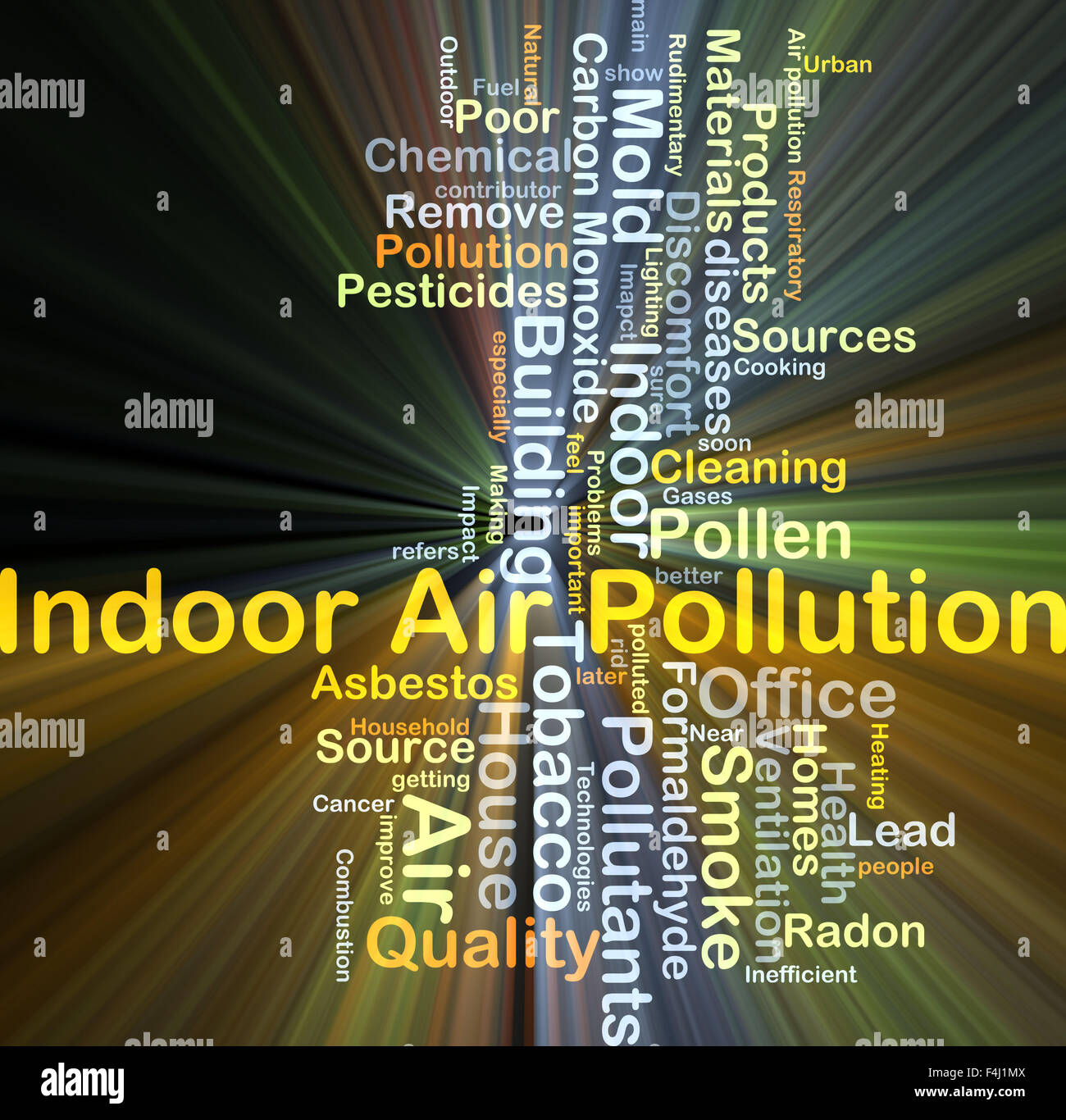 Background Concept Wordcloud Illustration Of Indoor Air Pollution Glowing  Light Stock Photo - Alamy