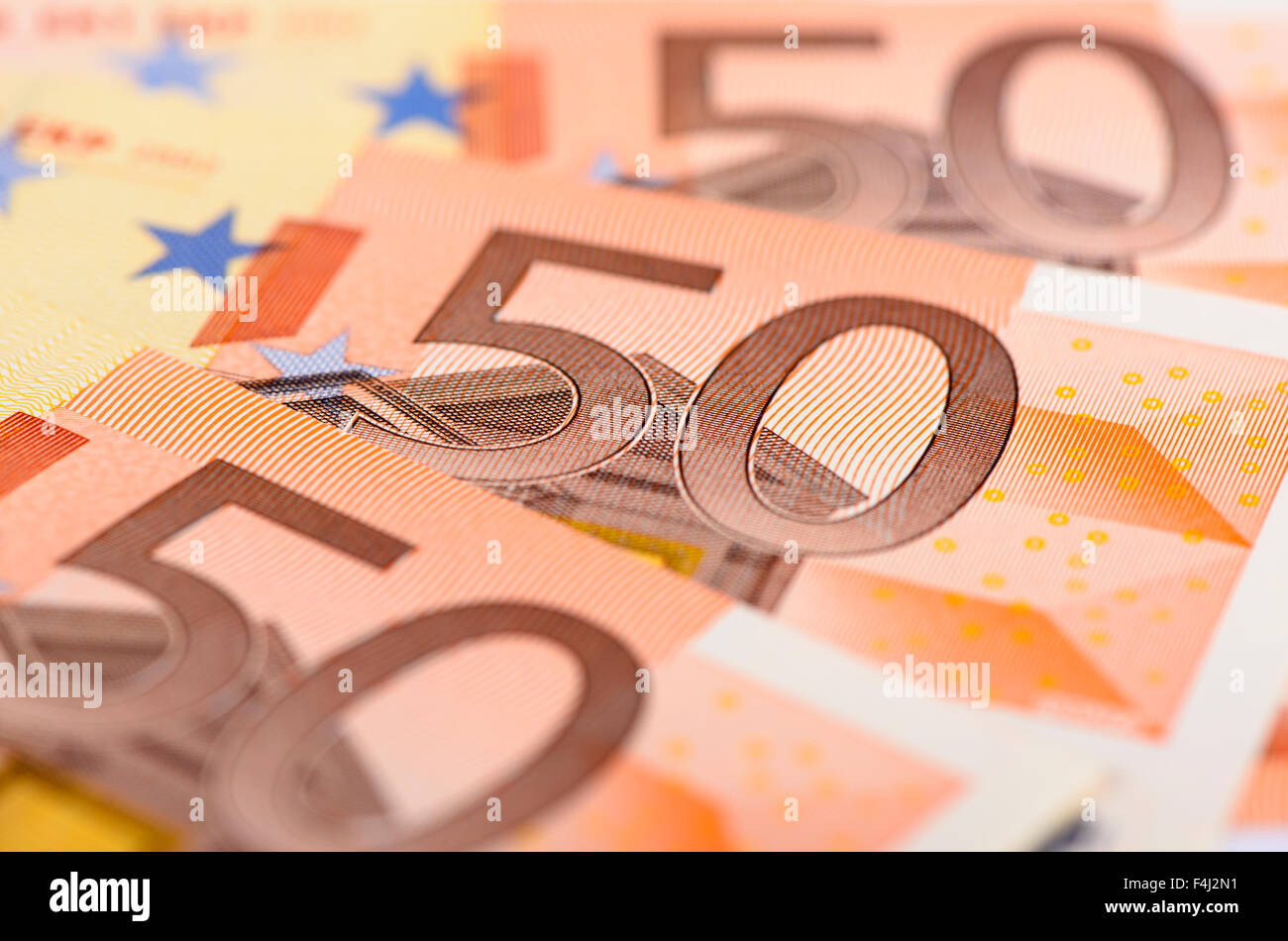 banknotes of euro currency - Stock Image