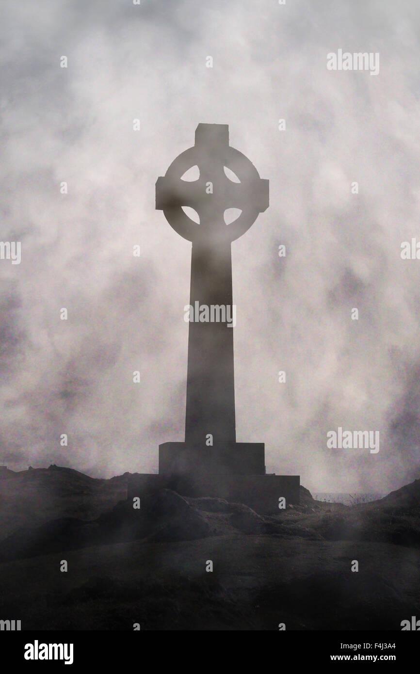 celtic cross - Stock Image