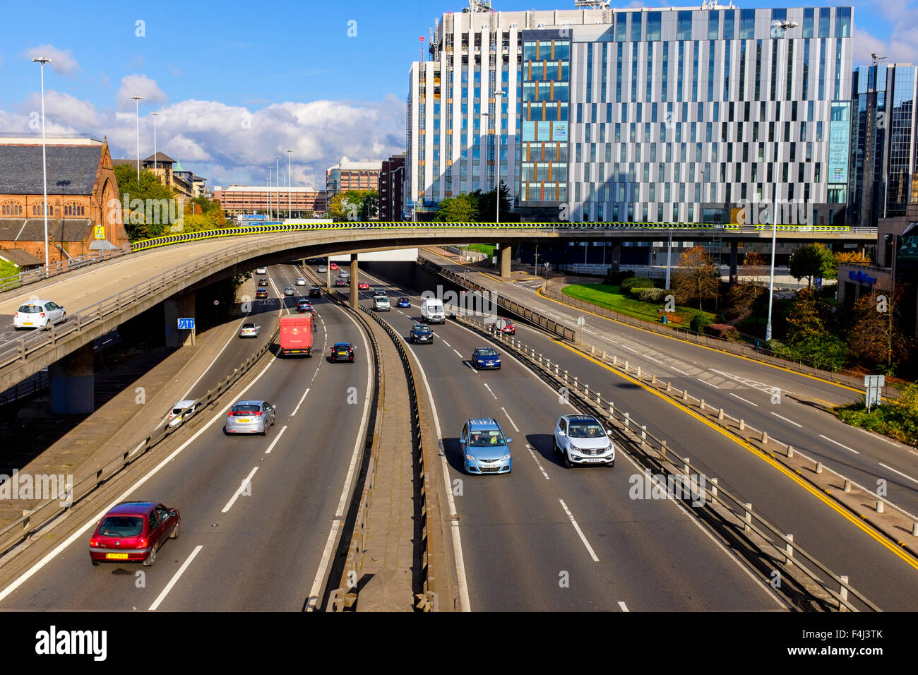 Charing Cross interchange with the M8 motorway, Glasgow city centre, Scotland, UK - Stock Image