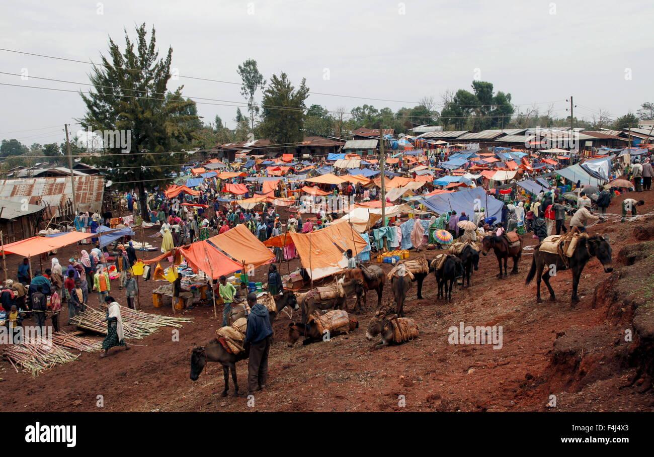 Market day near Jimma, Ethiopia, Africa - Stock Image