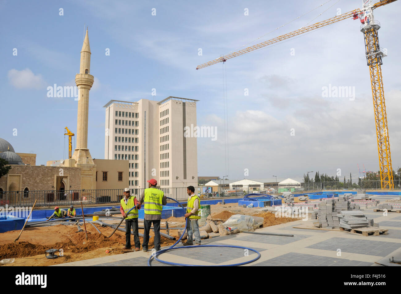 Reconstruction of Downtown Beirut by Solidere Consortium set up by late Rafik Hariri, Beirut, Lebanon, Middle East - Stock Image