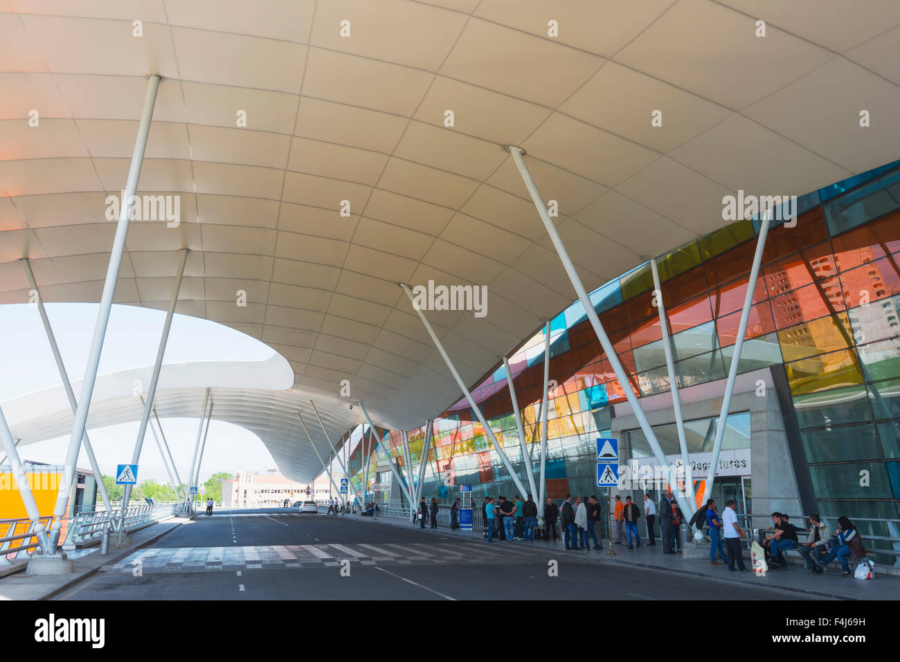 Zvartnots International Airport, Yerevan, Armenia, Caucasus region, Central Asia, Asia - Stock Image