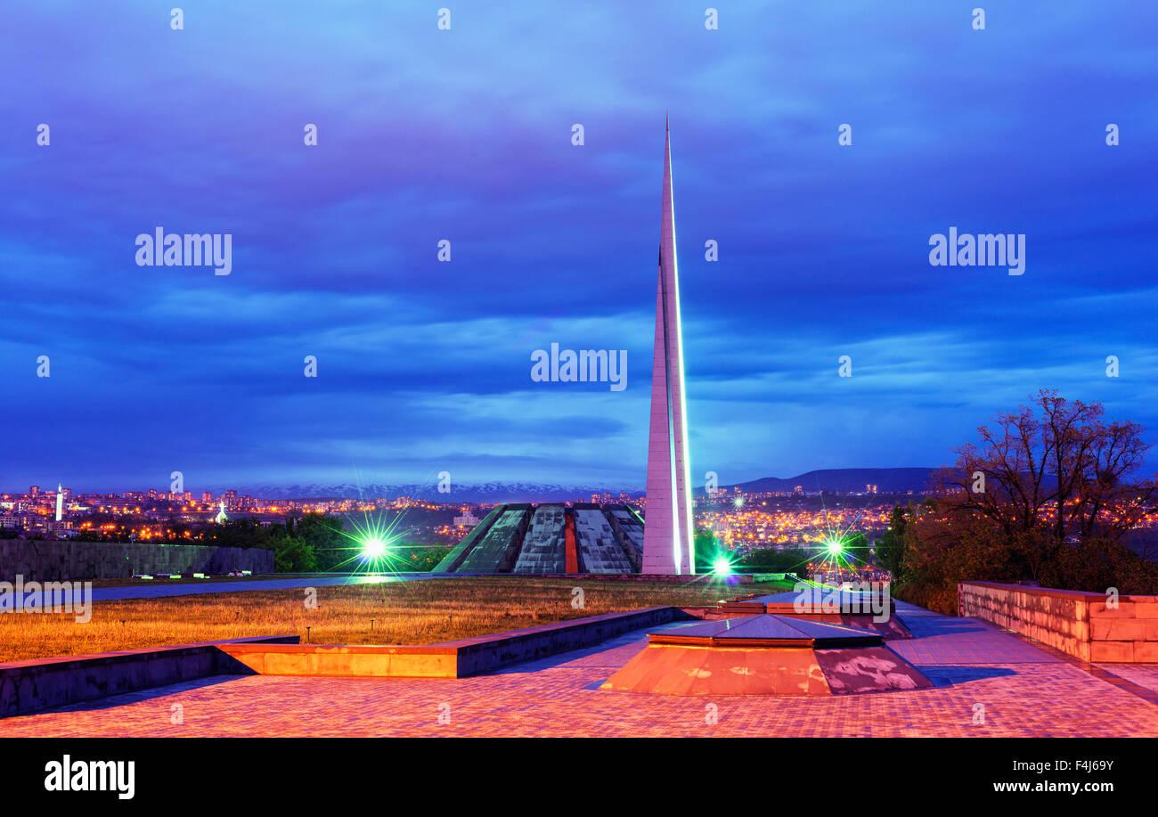 Genocide Memorial, Yerevan, Armenia, Caucasus region, Central Asia, Asia - Stock Image