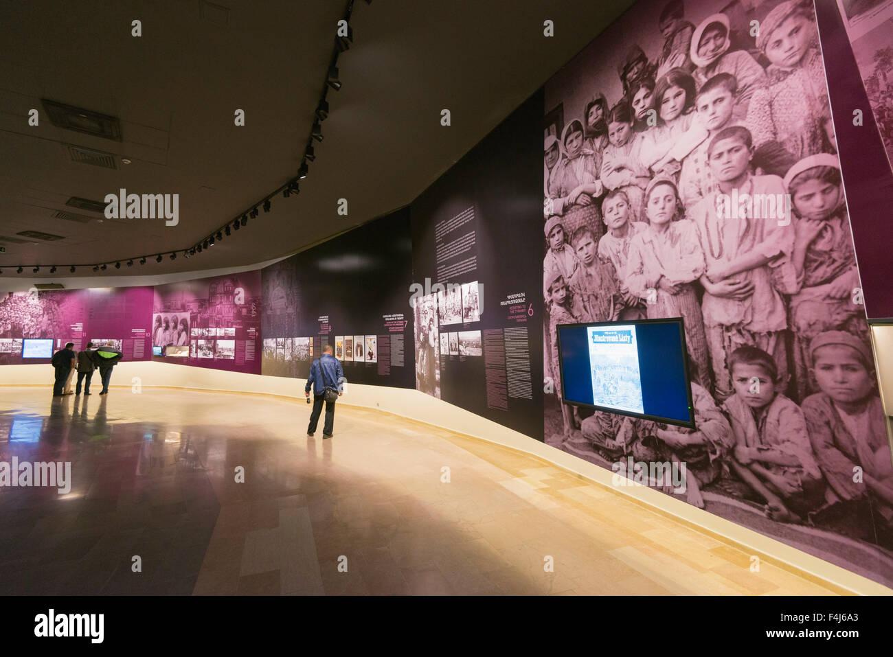 Genocide Memorial Museum, Yerevan, Armenia, Caucasus region, Central Asia, Asia - Stock Image