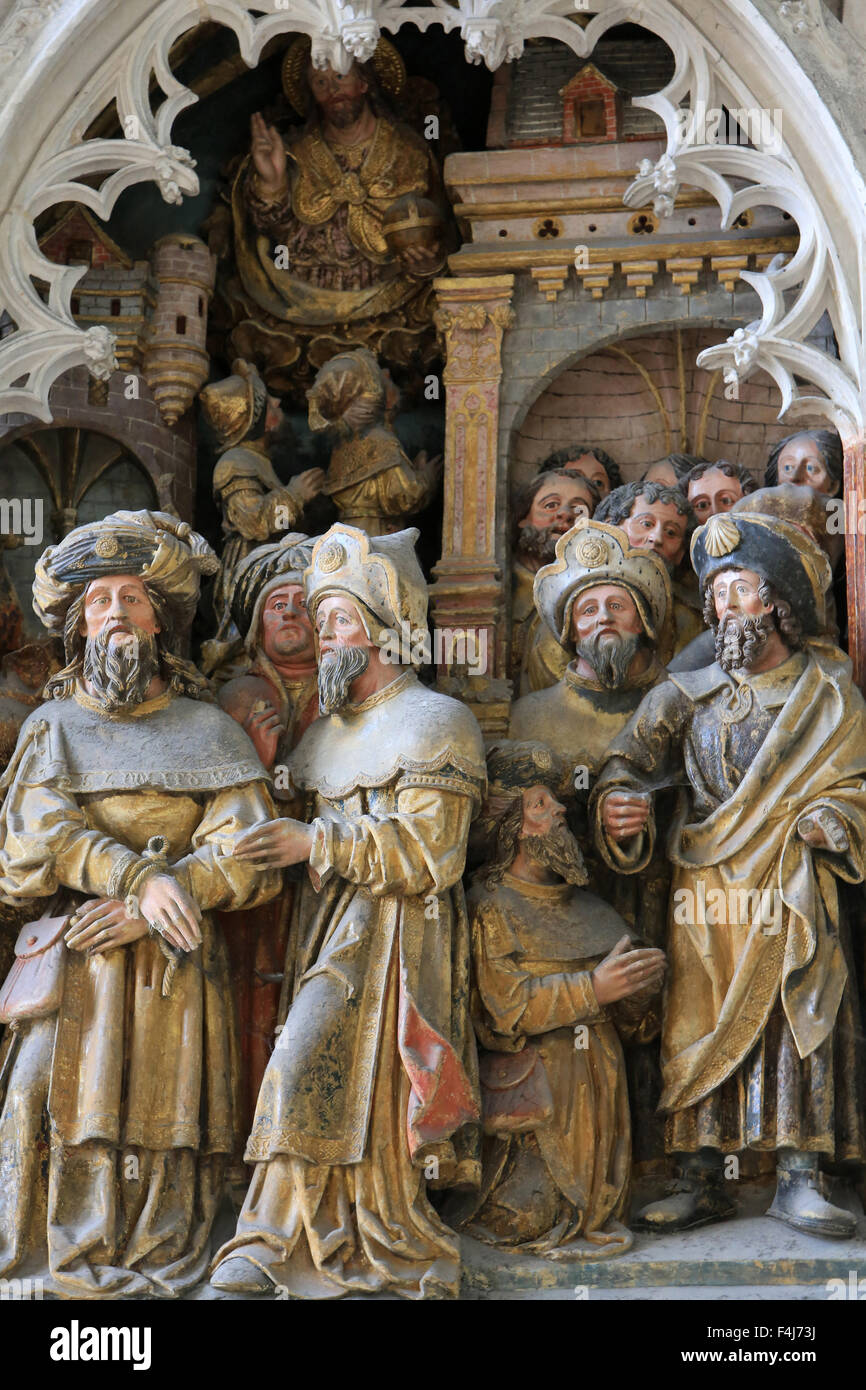 Life of St. Jacques le Majeur, high relief in the south transept, Beauvais Cathedral, Picardy, France Stock Photo