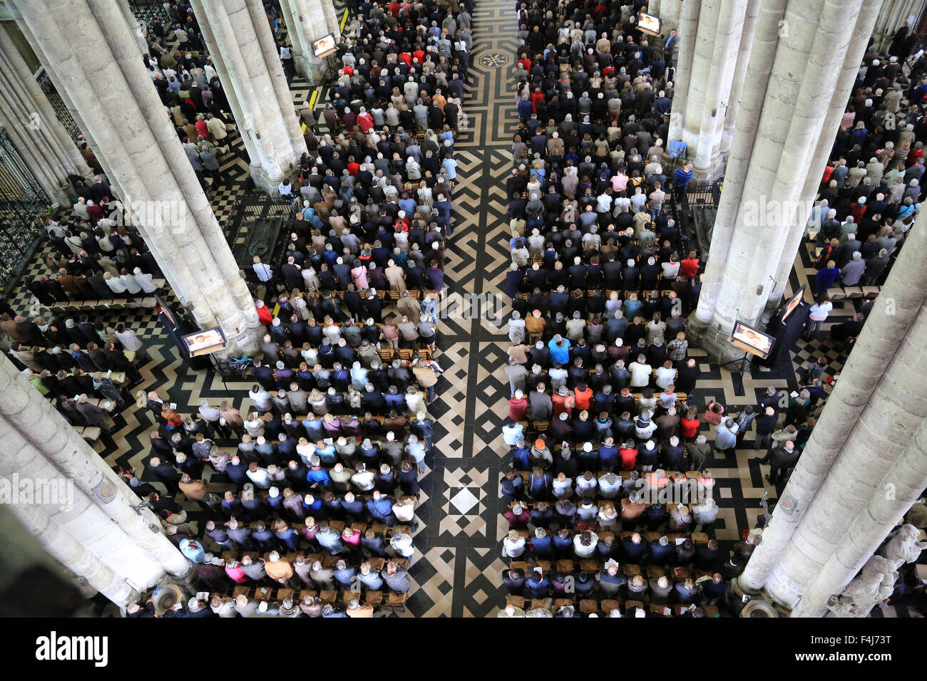 Believers Assembly, Episcopal ordination, Amiens Cathedral, Picardy, France, Europe - Stock Image