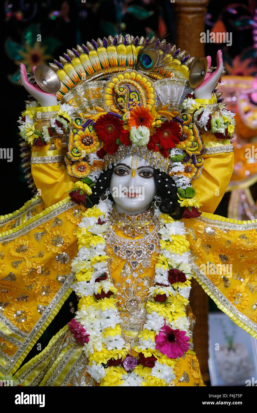 Gaura (Nitai), Gaura Purnima celebration at ISKCON Paris, France, Europe - Stock Image