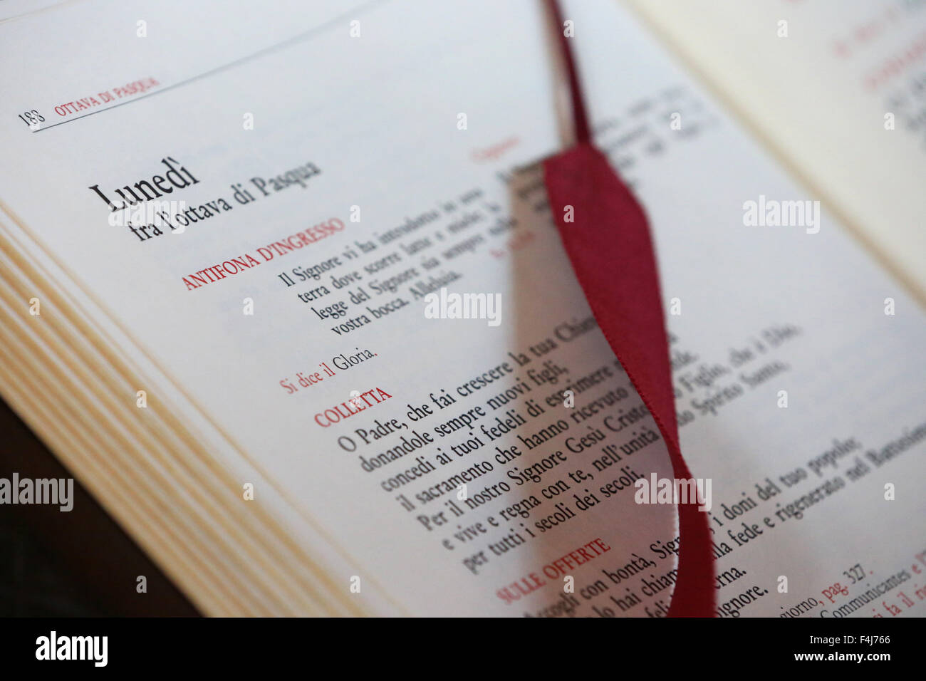 Roman Missal, Easter Monday, Entreves, Aosta Valley, Italy, Europe Stock Photo
