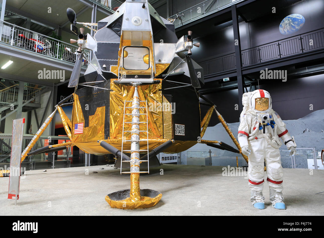 Apollo 17, Exhibition Apollo and Beyond. The Technik Museum Speyer, Rhineland Palatinate, Germany, Europe - Stock Image