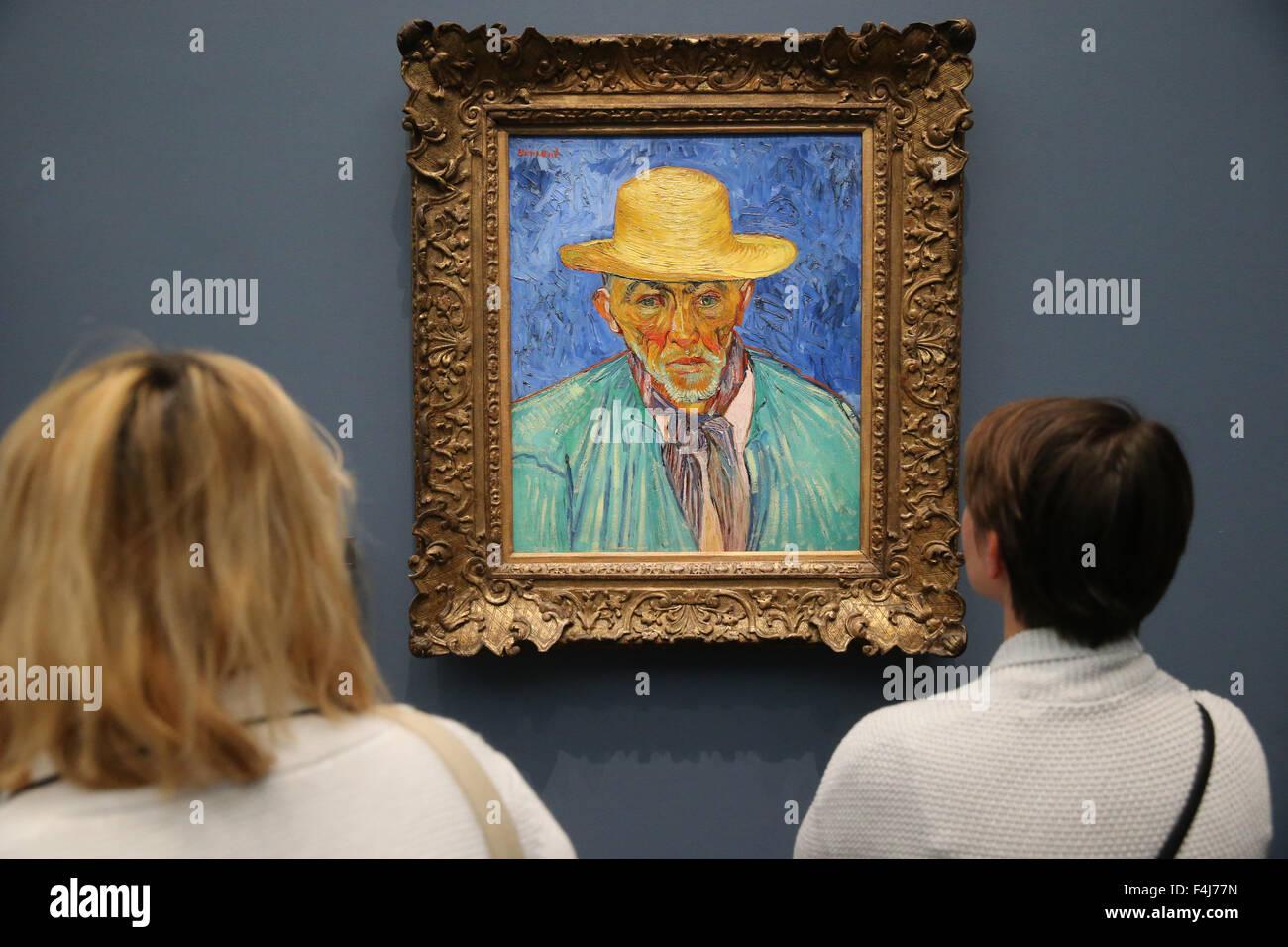 Portrait of a Peasant (Portrait d'un Paysan), 1888 by Vincent Van Gogh, Musee d'Orsay, Paris, France, Europe - Stock Image
