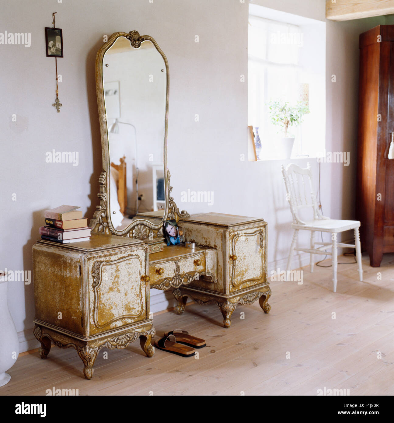 An antique furniture in a room. - Stock Image