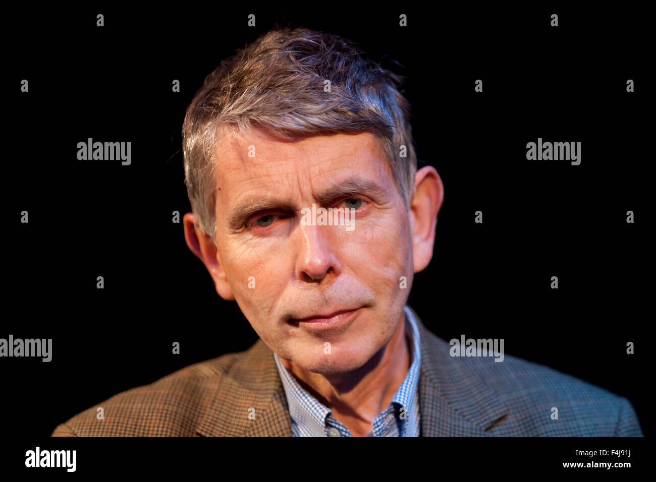 Ronald Frame, the prize-winning novelist, short story writer and dramatist at the Summerhall Historical Fiction - Stock Image