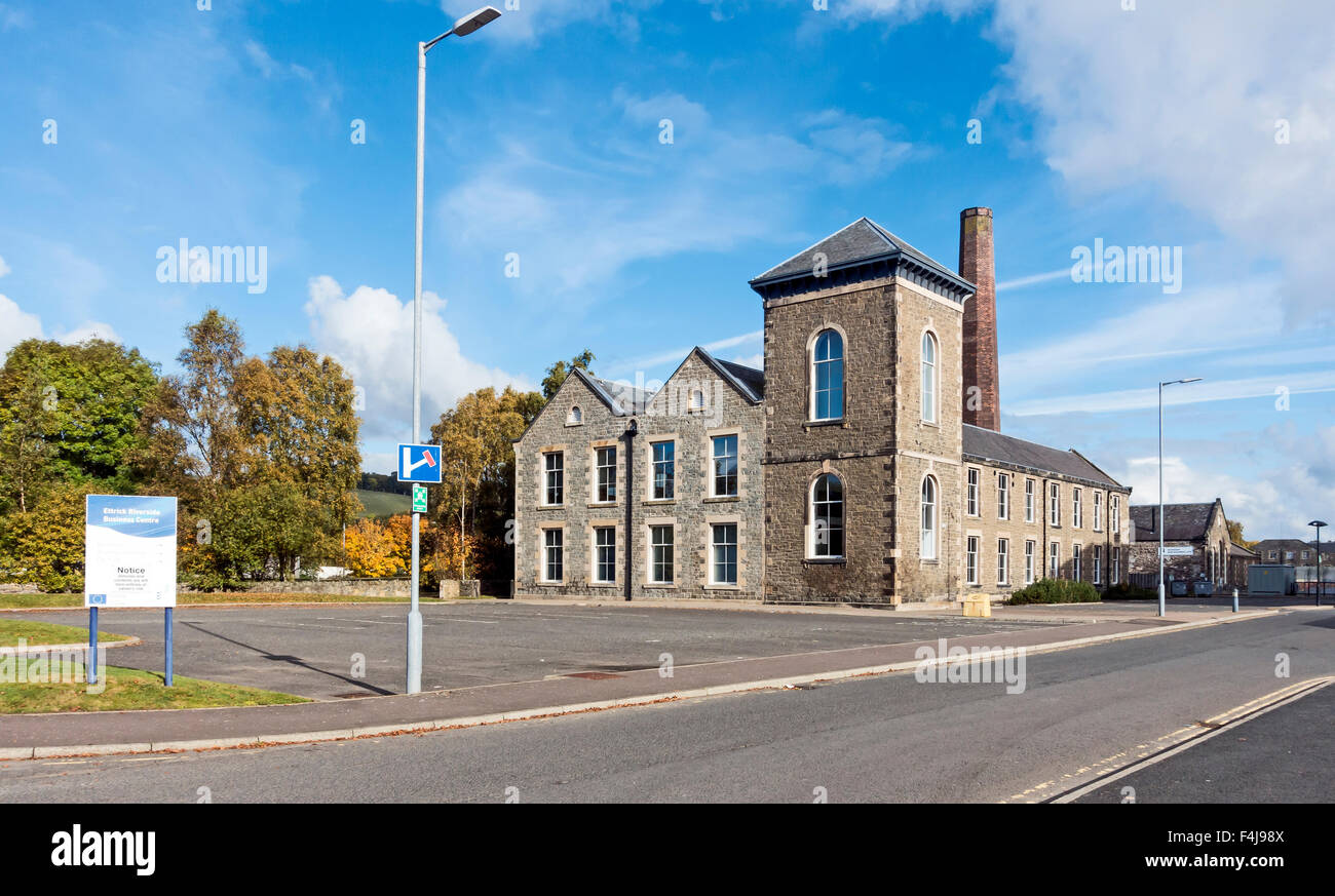 Old textile mill In Selkirk Scottish Borders Scotland - Stock Image